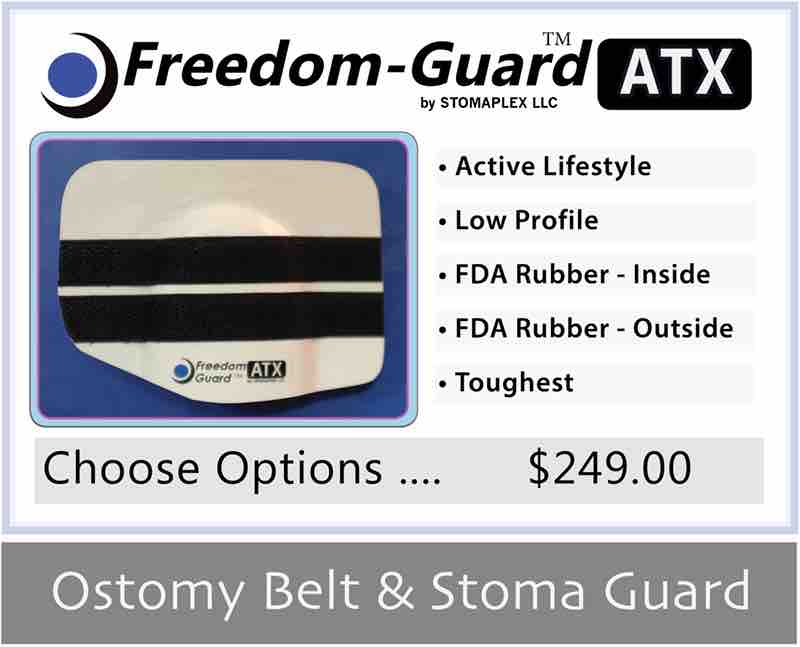 Stoma guard for swimming.