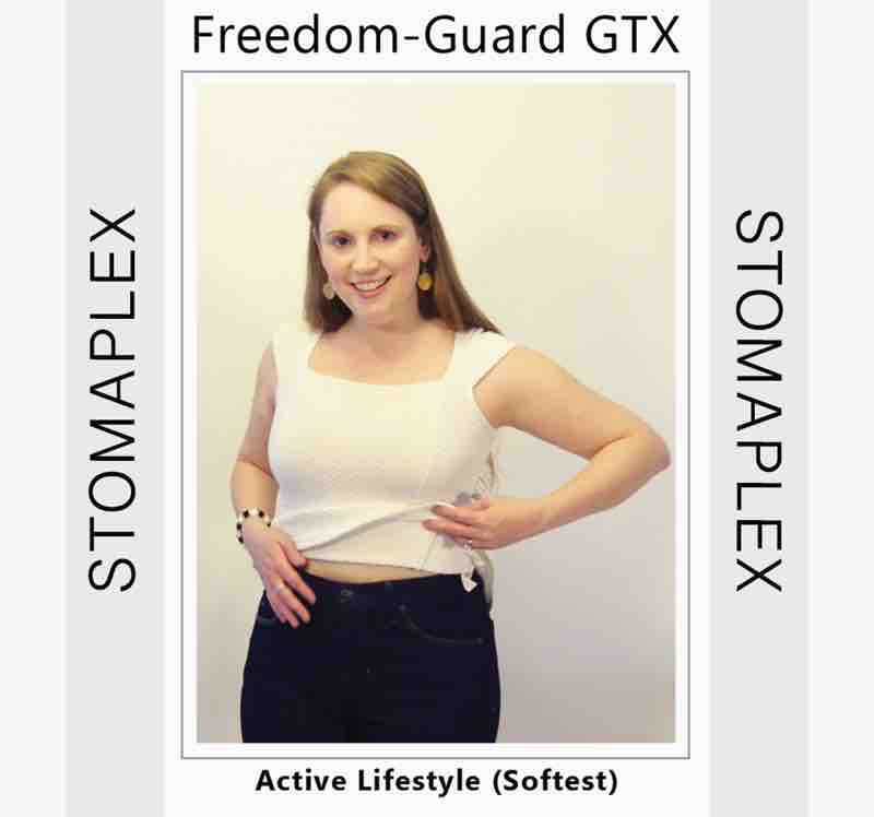 With the stoma guard on she does not have to worry about ostomy leaks