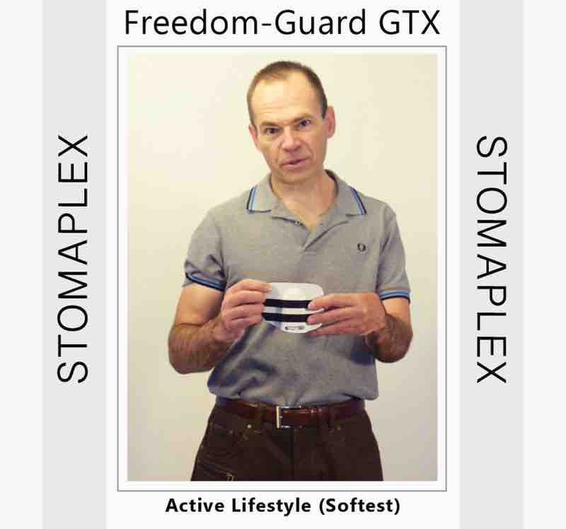 Size the stoma guard for the best look on a man