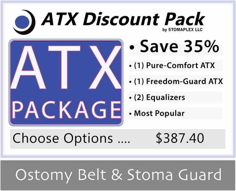 Ostomy belt and stoma guard discount package.