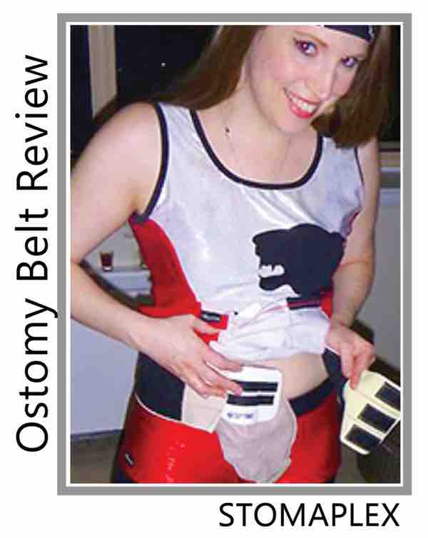 she likes to wear her ostomy bag horizontally with the stomaplex stoma guard, she reviews the ostomy protection for sports