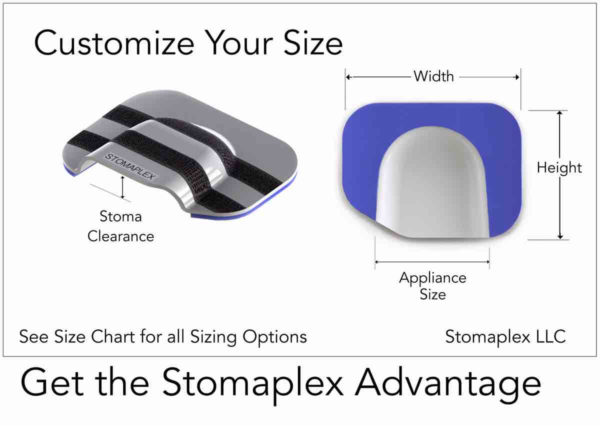 ostomy belt stoma guard size chart