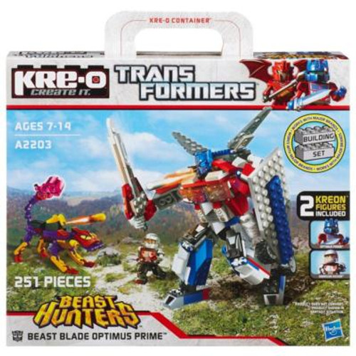 TRANSFORMERS BEAST HUNTERS BEAST BLADE OPTIMUS PRIME BUILDING SET