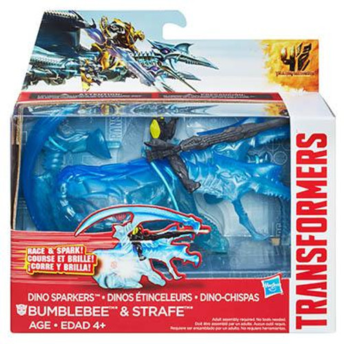 AGE OF EXTINCTION DINO SPARKERS BUMBLEBEE AND STRAFE FIGURES