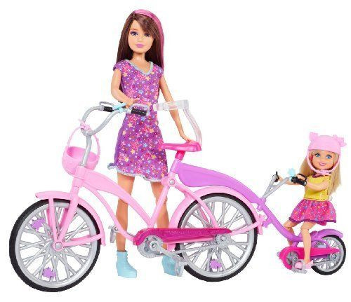 Barbie Sisters Bike for Two doll set