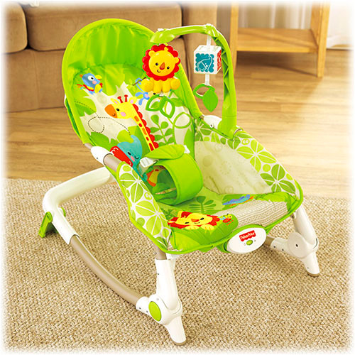The perfect stationary seat or rocker for even the youngest babies to play, eat or rest!