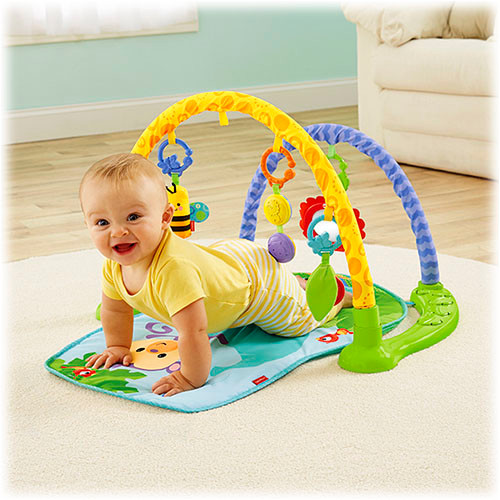 2 stages of play: Lay & play or crawl-through arches.