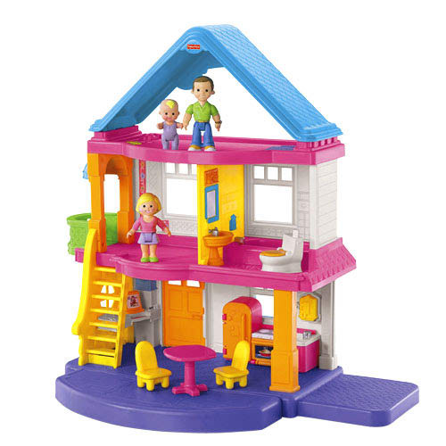 Features a balcony and patio for extra play space, and comes with all accessories shown.