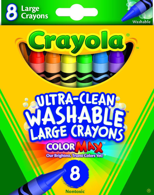 8ct. Large Washable Crayons