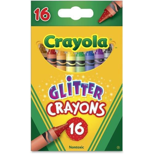 16ct Glitter Crayons