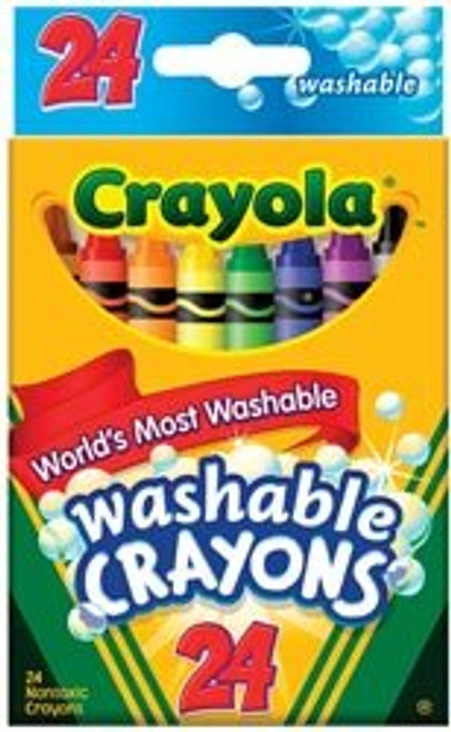 24ct. Regular Washable Crayons