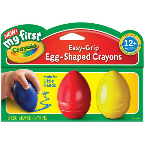 3ct. Egg Crayons