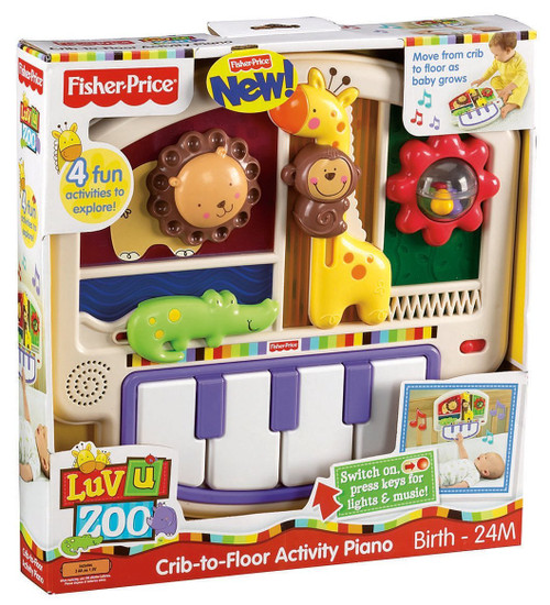 Luv U Zoo Crib-to-Floor Activity Piano
