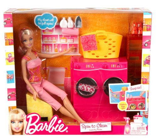Spin to Clean Laundry Room and Barbie Doll Set