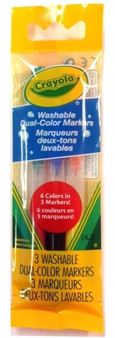 Dual Ended Markers Crayola 3pk