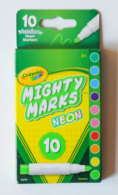 Crayola Mighty Marks Markers NEON 10ct.