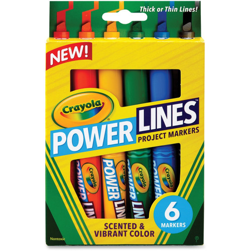 Crayola Power Lines 6-color Project Markers