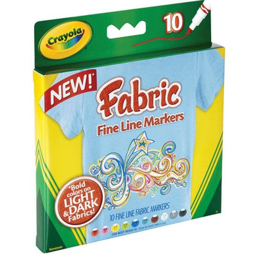 Crayola New Fabric Fine Line Markers