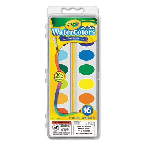 Washable Watercolors 16 Colors