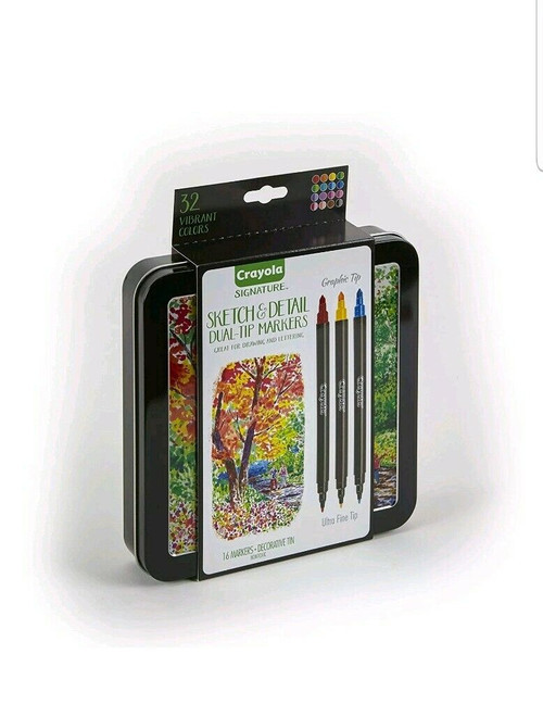 Signature Sketch & Detail Dual-tip Markers, 16ct.