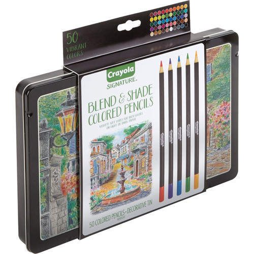 Signature Blend & Shade Colored Pencils In Decorative Tin, 50ct.