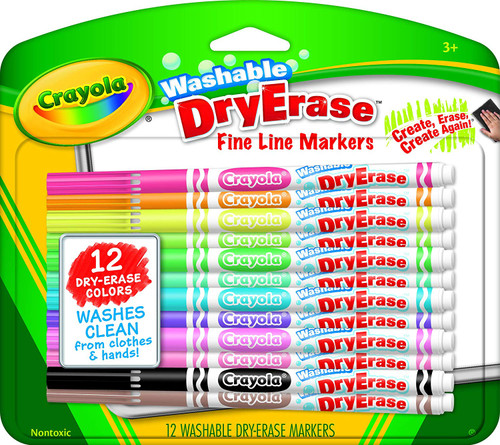 Washable Dry-Erase Markers 12ct
