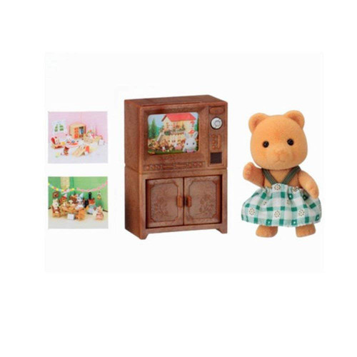 BEAR SISTER WITH TV SET