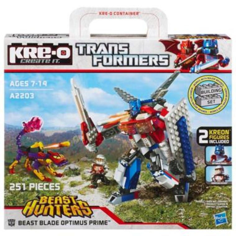 Kre-O TRANSFORMERS BEAST HUNTERS BEAST BLADE OPTIMUS PRIME BUILDING SET A2203E240