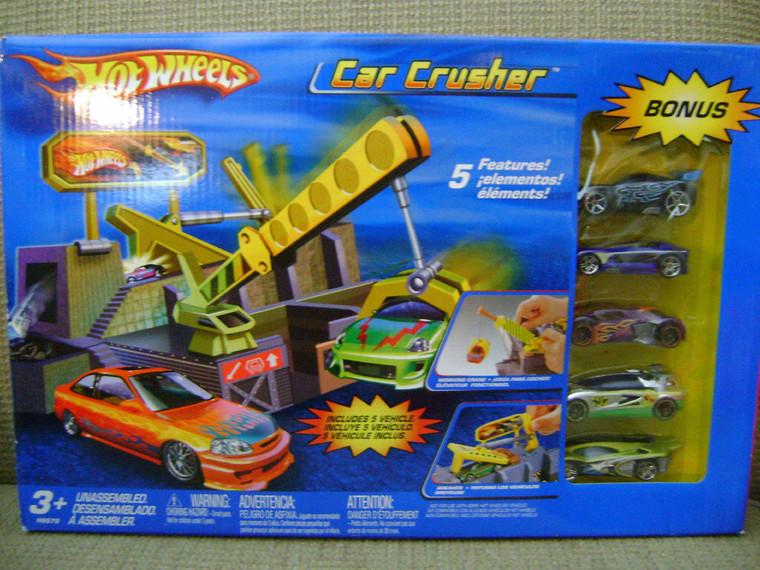 Hot Wheels Car Crusher Playset