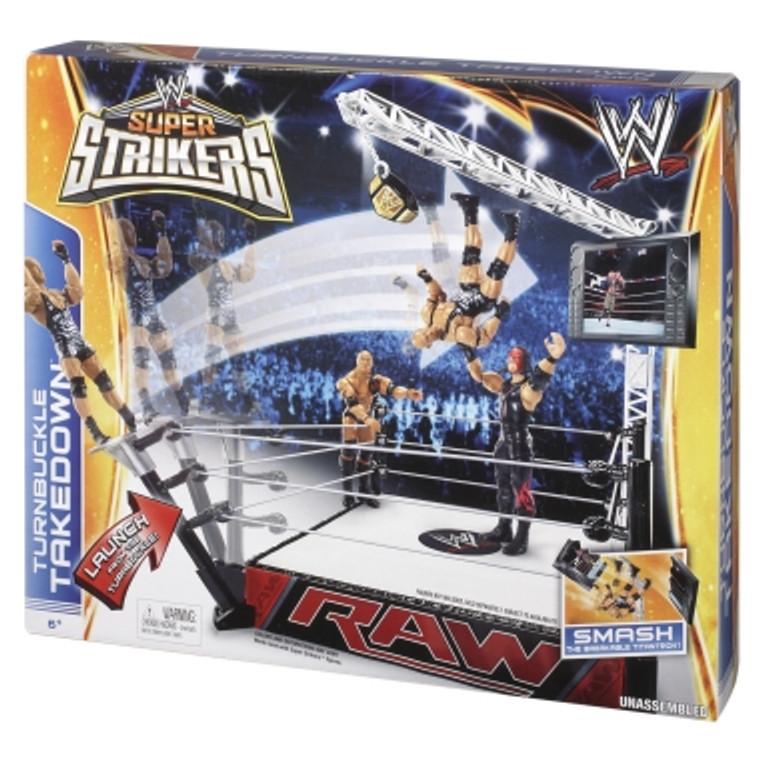 Mattel WWE® Super Strikers™ Turnbuckle Takedown™ Ring BJN10