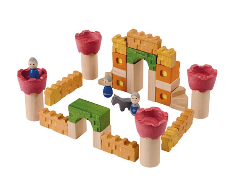Plan Toys CASTLE BLOCKSPLANWOOD 5651