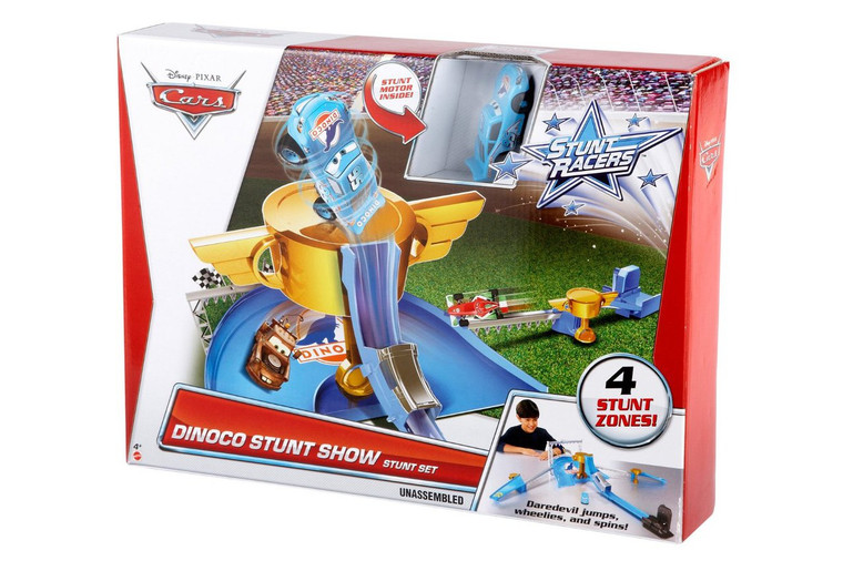Hot Wheels Cars Stunt Racers Dinoco Stunt Show Stunt Set Y1329