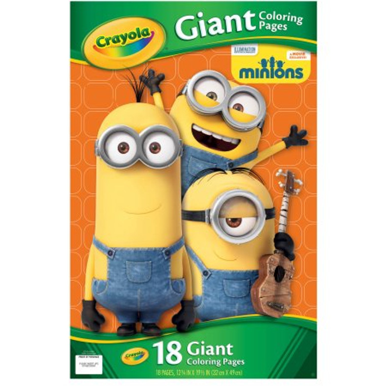Crayola Crayola Giant Coloring Pages, Minions 0420040000