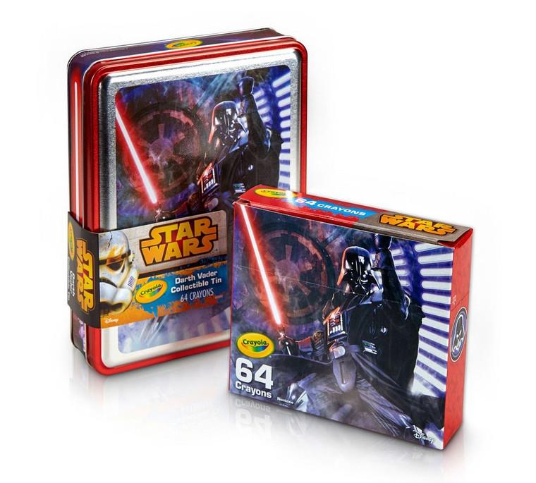 Crayola Star Wars, Darth Vader Tin and Crayon Box 0468490000