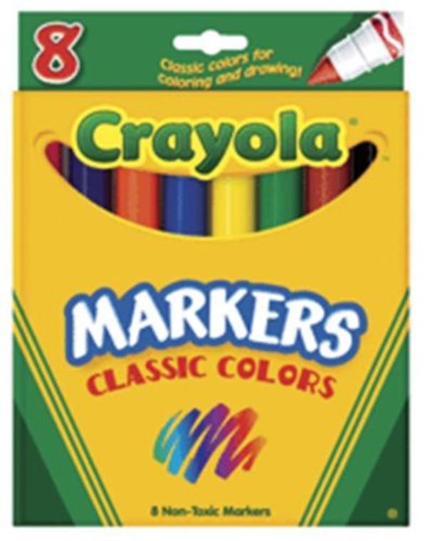 Crayola Classic Markers, Broad Line 8 ea