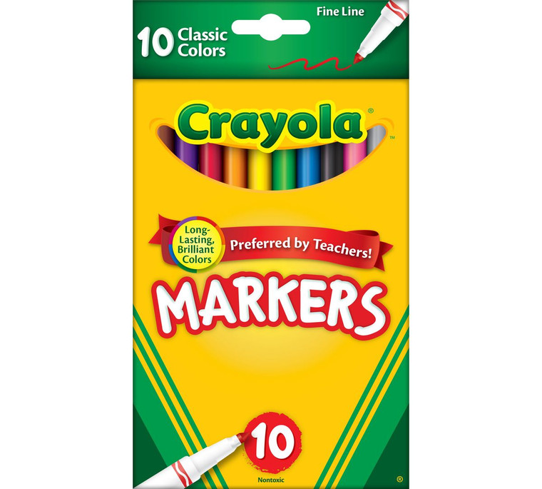 Crayola Fine Line Markers, Classic Colors 10 ct. 5877260016
