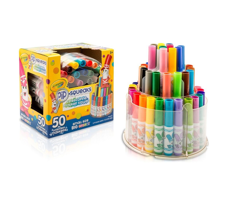 Crayola Pip Squeaks Telescoping Marker Tower 50ct 588750A007
