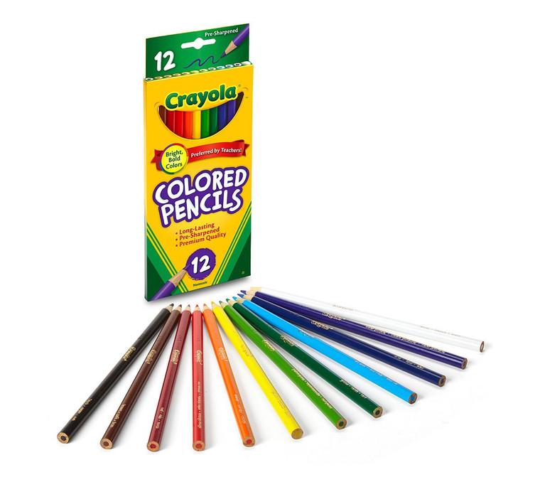 Crayola Colored Pencils, Long 12 ct. 6840124044