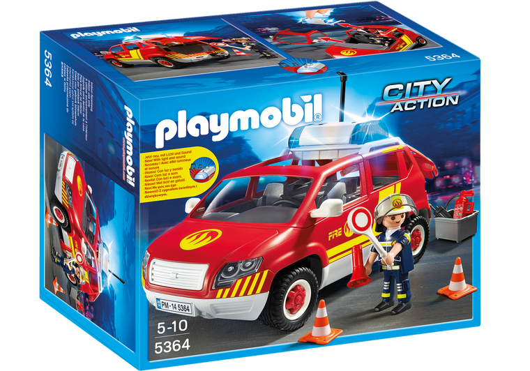 Playmobil Fire Chief´s Car with Lights and Sound 5364
