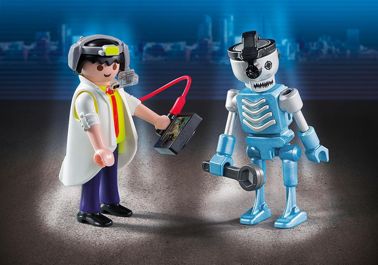 Scientist with Robot Duo Pack