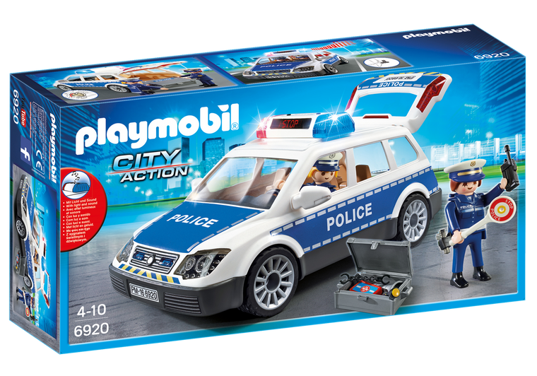 Playmobil Police Car with Lights and Sound 6920