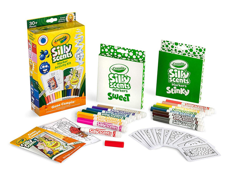 Crayola Silly Scents Marker Activity Kit, Gone Campin 0401140000