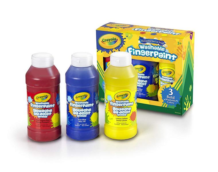 Crayola Primary Washable Fingerpaint , 3ct, 8oz 5513100001