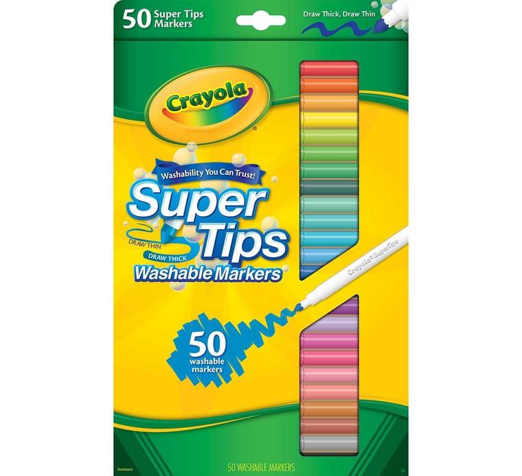 Crayola Super Tips Washable Markers, 50ct. 5850500023