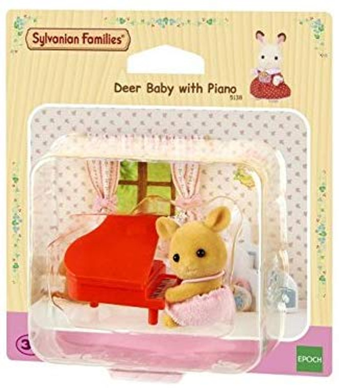 Sylvanian Families DEER BABY WITH PIANO 5138