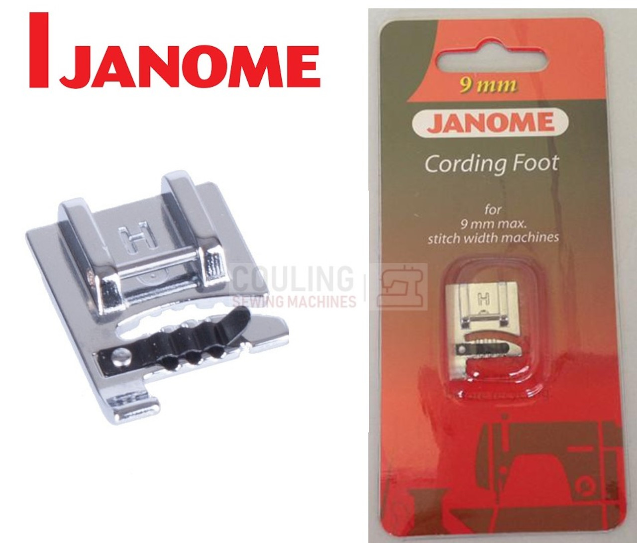 JANOME Compatible Sewing Machine BORDER GUIDE FOOT 9mm Stitch Width Cat D