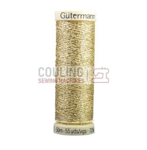 Gutermann Metallic Effect Thread 50m - Gold 24