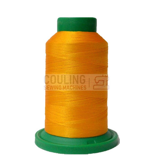 Isacord Polyester Embroidery Machine Thread 1000m - Goldenrod Yellow 0800