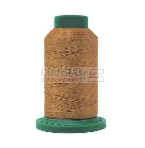 Isacord Polyester Embroidery Machine Thread 5000m - Toffee Brown 0842