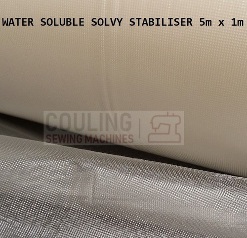 WATER SOLUBLE SOLVY STABILISER Water Wash Away Dissolvable Film Backing 5m x 1m
